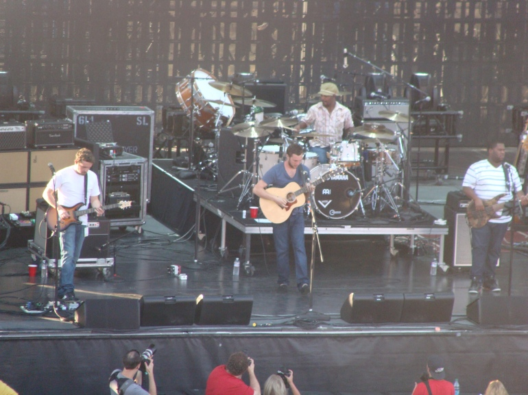Phillip Phillips and his band at the Gorge.